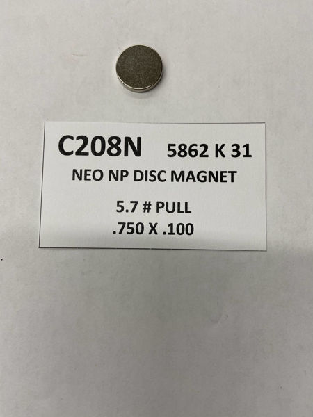 Picture of 5862K31 Nickel Plated Disc C208N
