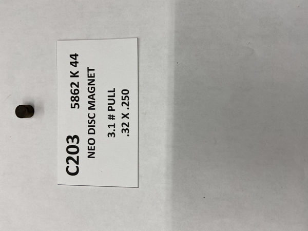Picture of 5862K44 Unplated Disc C203