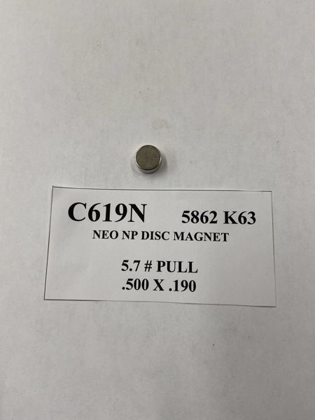 Picture of 5862K63 Nickel Plated Disc C619N